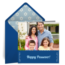 Simple Passover Photo Frame