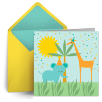 Birthday Giraffe card image