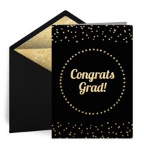 Graduation Gold Foil card image