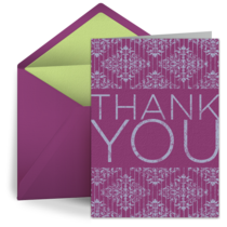 Purple Print Thanks card image