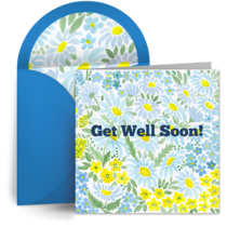 Get Well Daisies card image