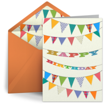 Birthday Flag Banner card image