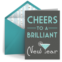 New Years Cheers card image