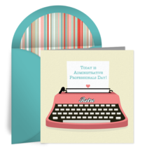 Free Adminstrative Professionals Day ECards Admin Cards Secretaries Greetings