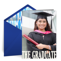 The Graduate Photo card image