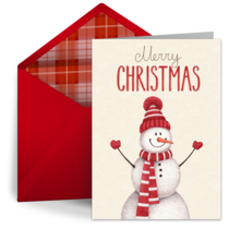 Holiday Snowman card image