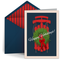 Holiday Sled card image