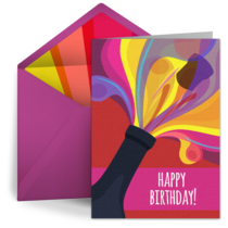 Birthday Champagne Pop card image
