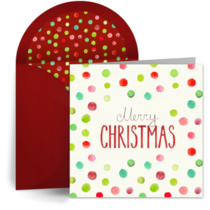Christmas Watercolor Dots card image