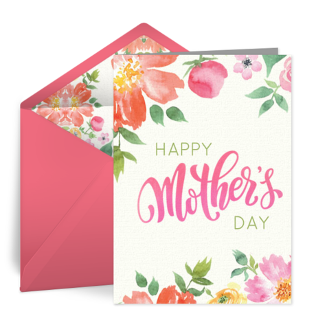 Free mothers day ecards happy mothers day cards greeting cards watercolor bouquet m4hsunfo