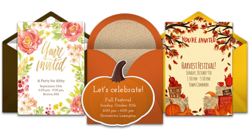 Free Fall Themed Online Invitations