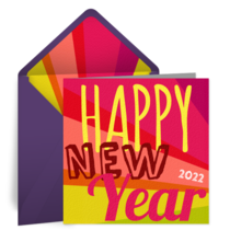 Vibrant New Year card image