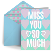 Miss You Ombre Hearts card image