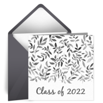 Graduation Flourish card image