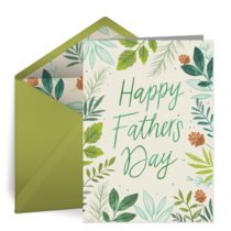 Father's Day Floral card image