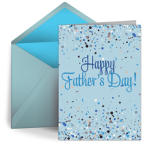Happy Father's Day Confetti card image