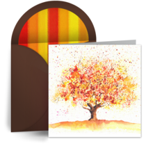 Fall Equinox Tree card image