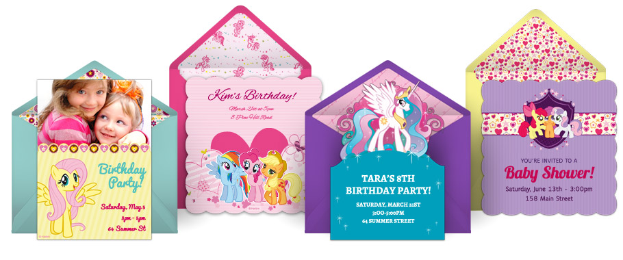 My Little Pony Online Invitations