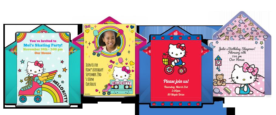 Free Hello Kitty Invitations Hello Kitty Online Invitations