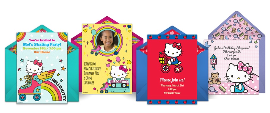 Free Hello Kitty Invitations Online