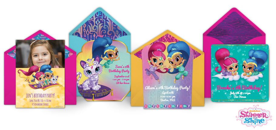 Free Shimmer And Shine Invitations Shimmer And Shine Online