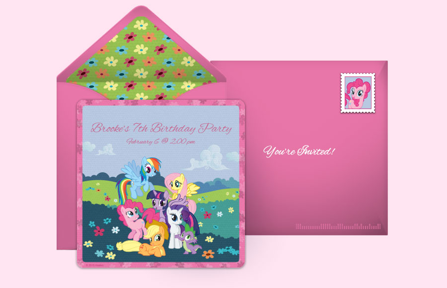 Free My Little Pony Invitations, My Little Pony Online Invitations ...