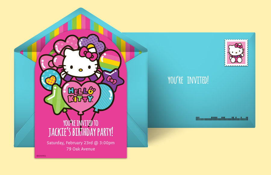 hello kitty sleepover invitations