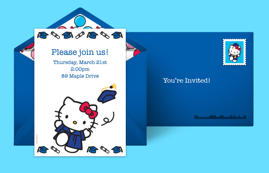 Plan a Hello Kitty Graduation Party!