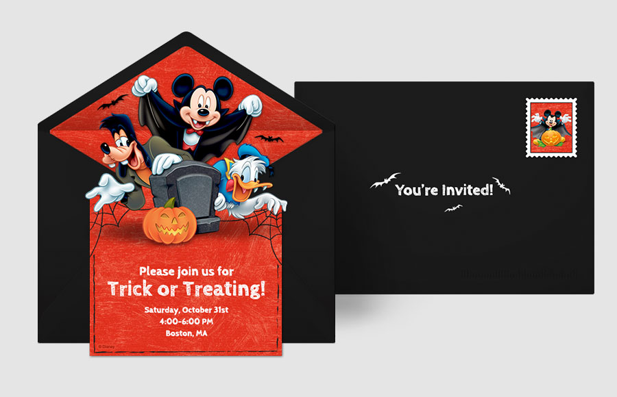 Plan a Mickey Mouse Halloween Party!
