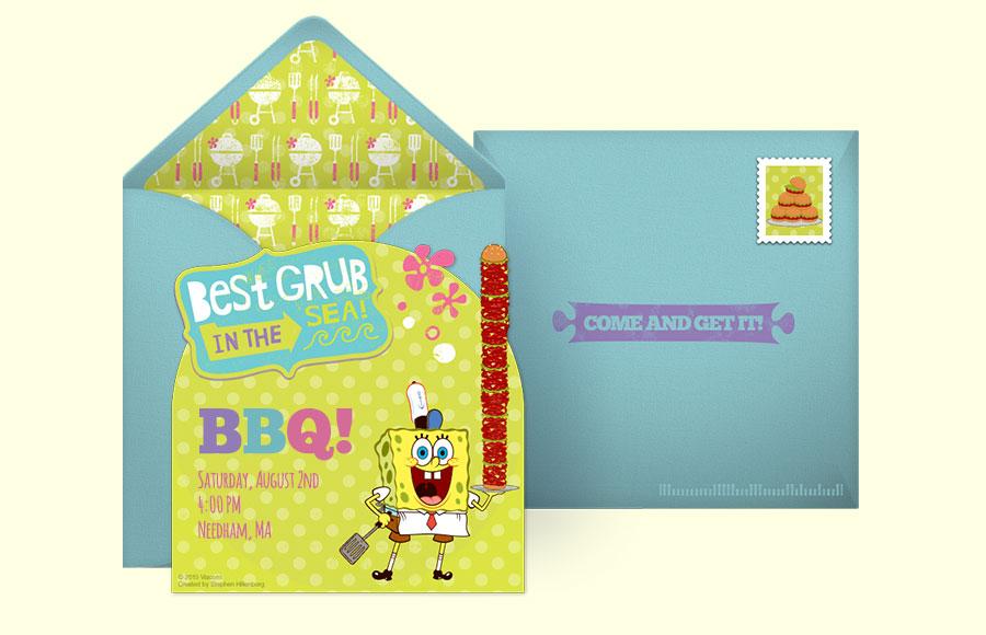 Free SpongeBob Invitations, SpongeBob SquarePants Online Invitations ...