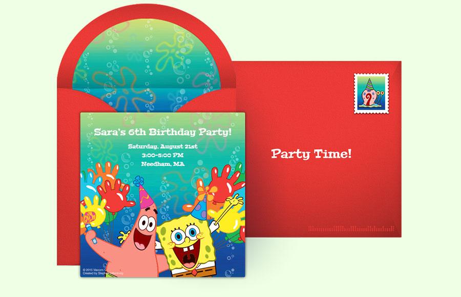 Free spongebob invitations spongebob squarepants online invitations plan a spongebob squarepants party filmwisefo