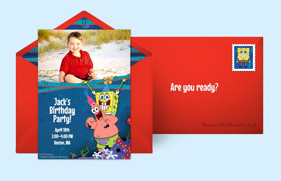 Free Spongebob Invitations Spongebob Squarepants Online Invitations