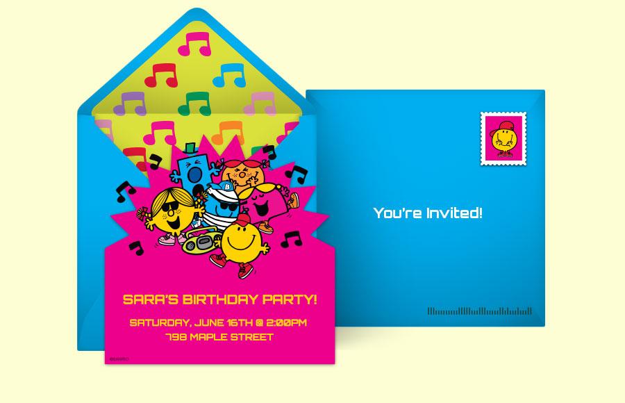 Free Mr. Men Invitations, Mr. Men Online Invitations | Punchbowl