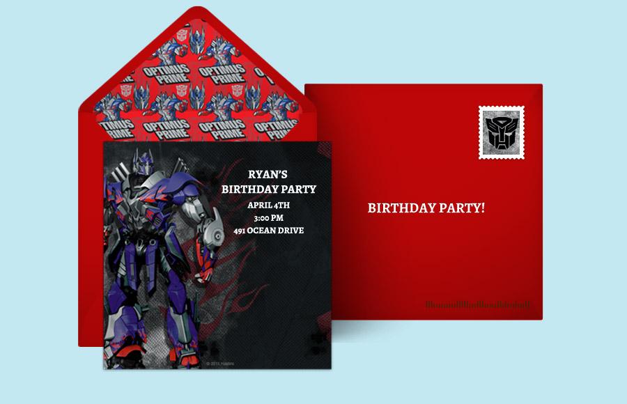 Plan A Optimus Prime 3D Party