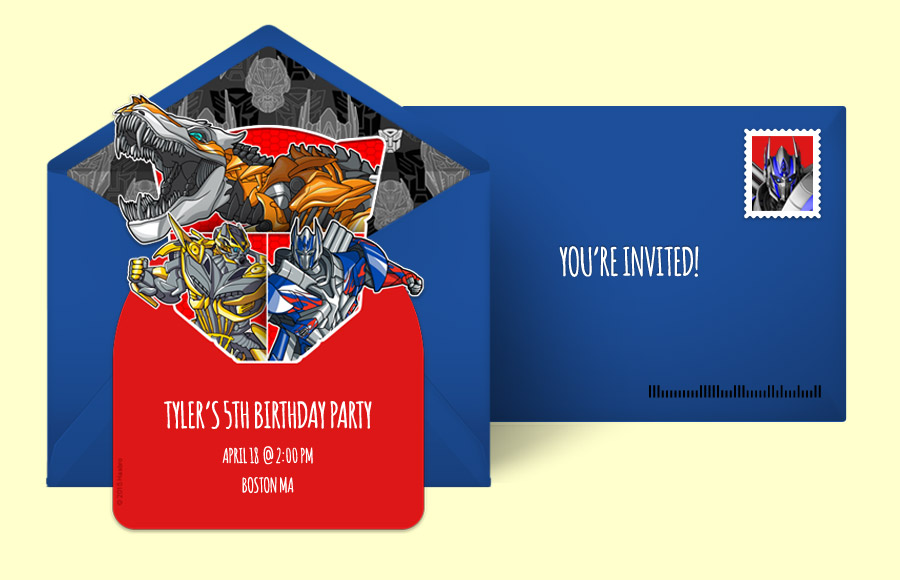 Free Transformers Invitations Transformers Online Invitations