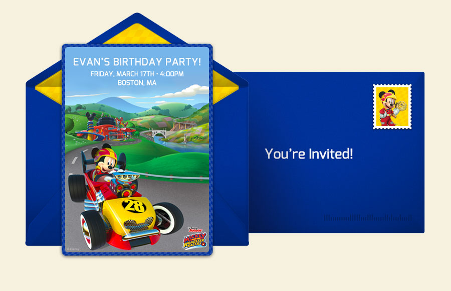 Plan a Mickey Mouse Roadster Party!