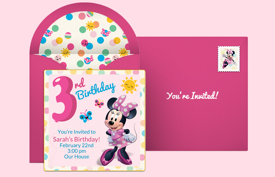 Plan a Minnie 3rd Birthday Party!